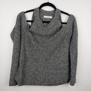Rag & bone jean sweater cold shoulder, m